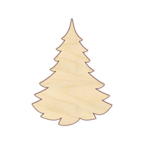 Christmas Tree Wood Cutout Unfinished Wood 160289