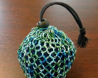 Speckled Chainmail Drawstring Pouch