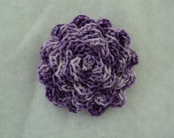 SET of 10 flower purple CROCHET Ø 5 cm. ref: Z34 5 F3