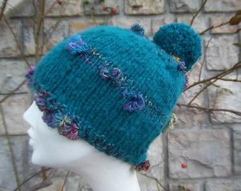 Fancy wool Bobble Hat