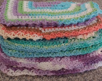 Super Strong 100% Cotton Hand Crocheted Kitchen Dishcloths
