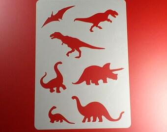 Template Dinosaur T-Rex 7 Dinosaurs-BA08