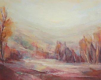 1993 Oil painting landscape signed