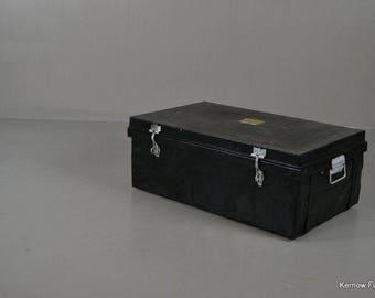 Large Black Metal Tin