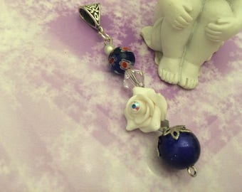 romantic pendant beads and pink