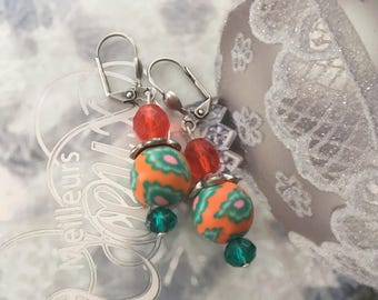 Earrings ' romantic orange vitamin ethnic earrings