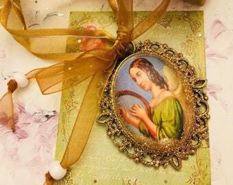 hanging Christmas Angel and his harp
