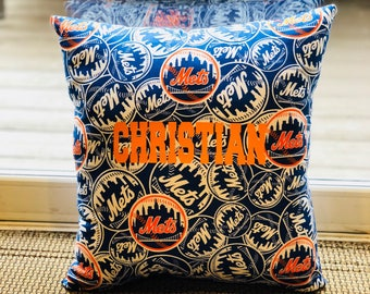 Personalized Mets MLB Pillow