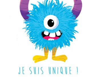 "Little monsters illustration ""I am one"" series"
