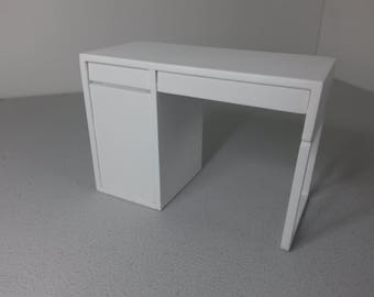 Modern Miniature Dollhouse Ikea Desk 1:12 Scale