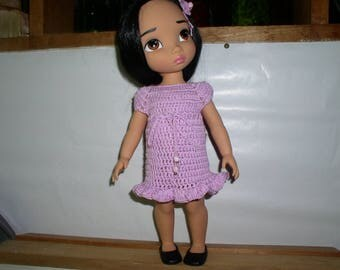 dress and hair clip for Disney animator doll outfit