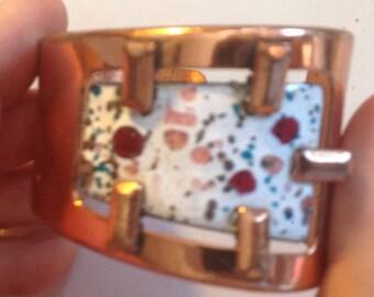 1950s Matisse Copper and Enamel Bracelet