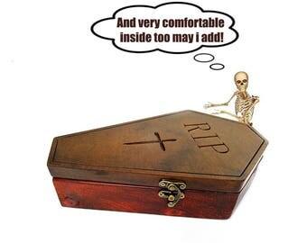 Coffin box, casket, gothic jewelry box, jewellery box, coffin, halloween, gothic box,  jewelry box, wooden box, trinket box, goth, horror