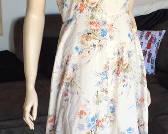 Gorgeous Summer 70s Off The Shoulder Floral Gypsy Dress