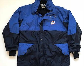 Vintage Labatt Blue Beer 2-In-1 Jacket Coat by Roots Size XL