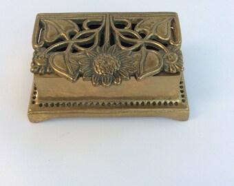 Vintage Art Nouveau Brass Box