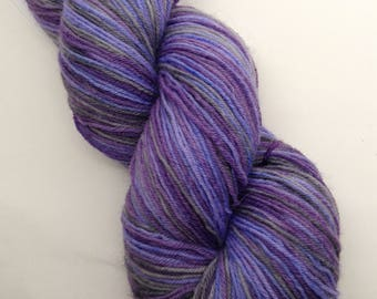 Dressed for Success Self Striping - Hand Dyed BFL Fingering Weight Yarn - Boondock (463 yards)