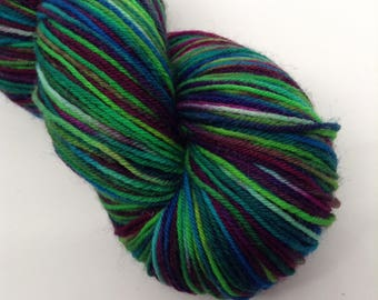 Midway - Hand Dyed Fingering Weight BFL Yarn - Boondock (463 yards)