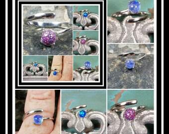 Sterling Silver Memorial Ash Ring / Memorial Ash Jewelry/ Pet Memorial Jewelry/ Ash Ring / Cremation Jewelry/64 Color Options