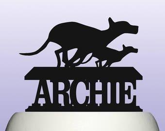Personalised Acrylic Greyhound Racing Birthday Keepsake Cake Topper Decoration