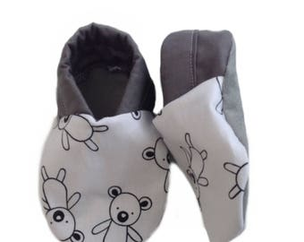 Is it a Koala? Is it a Bear? Soft Sole Baby Shoes, booties, pram shoes