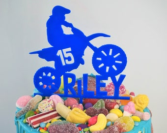 Dirt bike cake topper Etsy UK