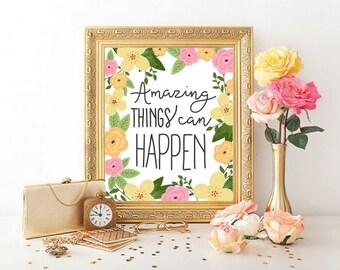 Amazing Things Print