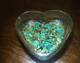 Heart-Shaped Turquoise Dish