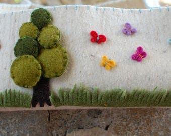 Wool felt basket - decoratec felt basket - nursery basket - Home decoration -