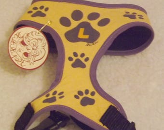 "Dog Harness ""Footprints"""