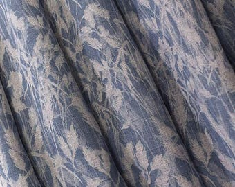 Blue Curtains- Navy Blue- Autumn Hay- Country Cottage- Leaves- Linen Curtains- Custom Made- Linen Curtains- Traditional- Custom Made- UK