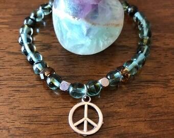 Peace Bracelet / Hippie/Ganja/Zen/Peace/EDM/edc/festival/teen/gift/jewelry/bracelet
