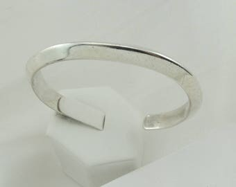 Mary Morgan Stamped Navajo Silversmith/Artisan Simple Heavy Vintage Sterling Silver Cuff Bracelet.  #MMORGAN-CF1