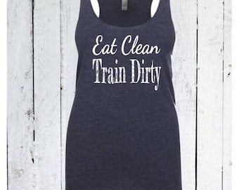 15%off this week only workout tank / workout clothes / Eat clean train dirty