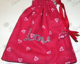 Lollipop, lined and reversible 100% cotton bag