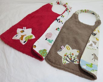 set of two towels elastic cotton/Terry