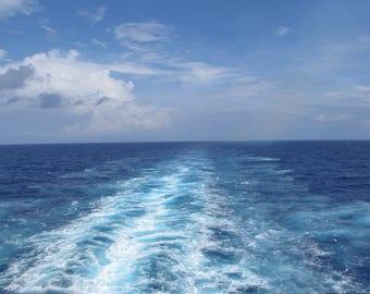 Caribbean Cruise ship tail