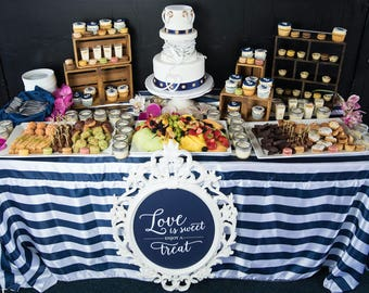 Good Nautical Navy And White Stripe Tablecloths