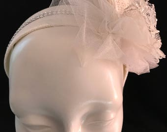 """Aura Adornment :"""" Here comes the Bride."""" Head band and bouquet set."""