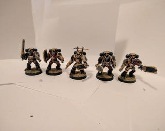 Space Marine custom melee/relic weapons squad.
