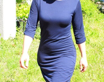 Women's dress in jersey, made to order, big choice of fabric
