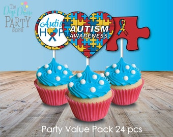 Autism Fundraising Party Printables Value Pack with Editable Invitation, Instant Download