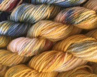 5 Mini skeins of hand dyed yarn