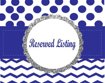 Reserved Custom Listing for Peacock haven