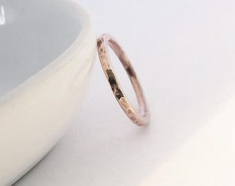 Summer sale 25% Off Hammered Copper Stacking Ring - 2 mm Copper Ring - Copper stacking Ring - Hammered Stacking Ring - Handmade Jewelry