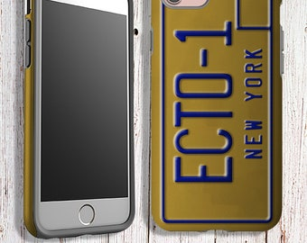 Tough Phone Case - Clear Phone Case - Ghost Busters echo 1 License Plate Phone Case - iPhone samsung google LG