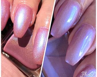 Strawberry Vapor  pink duochrome holographic nail polish
