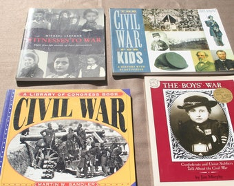 Civil War books lot of 4 all in excellent, clean and crisp condition interesting reading