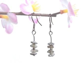 Labradorite dangle earrings, fashion jewelry, gemstone earring minimalist jewelry gemstone fashion earring,natural labradorite jewelry, fyc