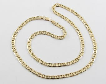 """Anchor Link Chain 14K Solid Yellow Gold Necklace 22"""" 20.6 grams"""